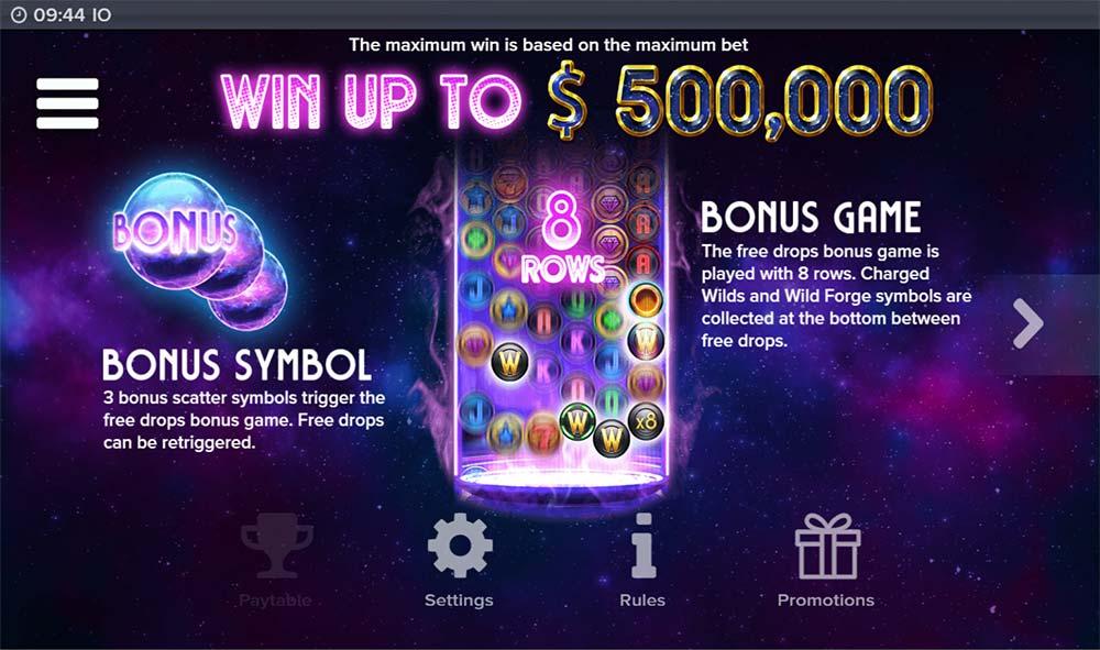 IO Slot - Bonus Paytable