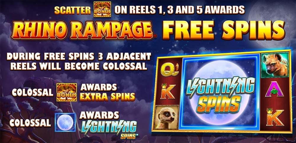 Rhino Rampage Slot - Free Spins