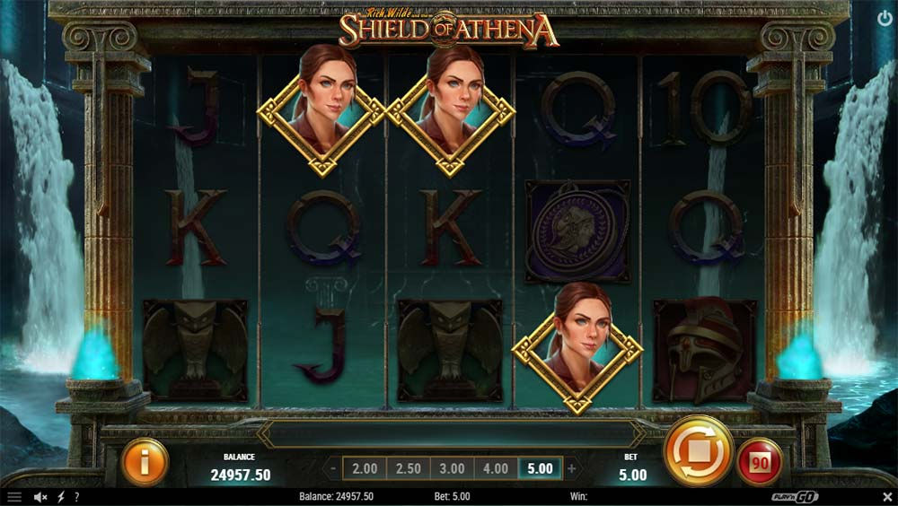 Shield of Athena Slot - Bonus Trigger