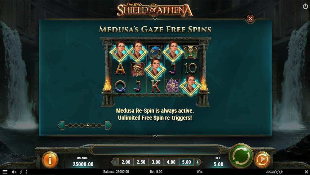 Shield of Athena Slot - Medusa Gaze Free Spins