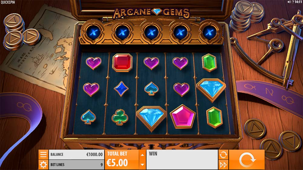 Arcane Gems Slot - Base Game