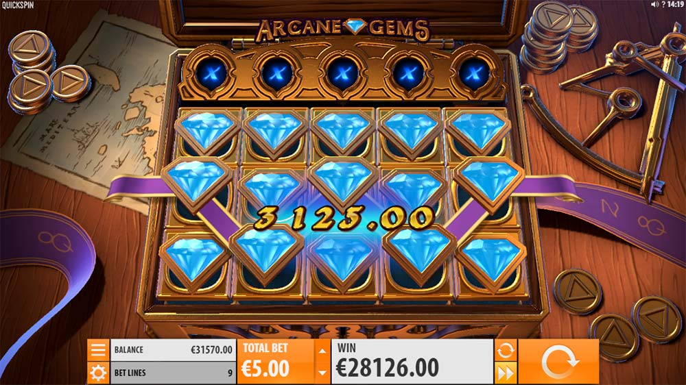 Arcane Gems Slot - Maximum Win