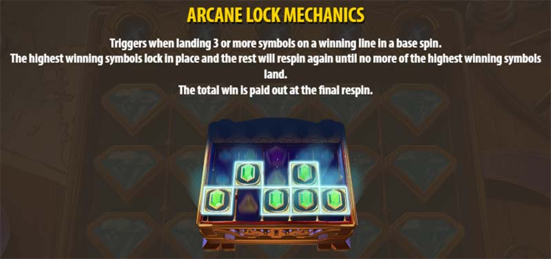 Arcane Gems Slot - Arcane Lock Mechanic
