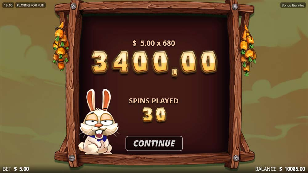 Bonus Bunnies Slot - Bonus End