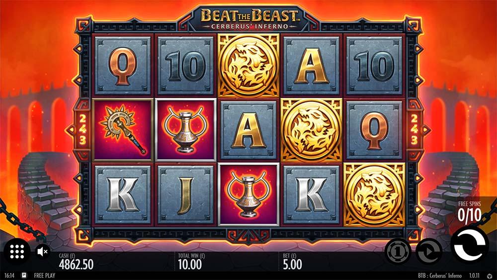 Beat the Beast Cerberus Inferno Slot - Bonus Trigger