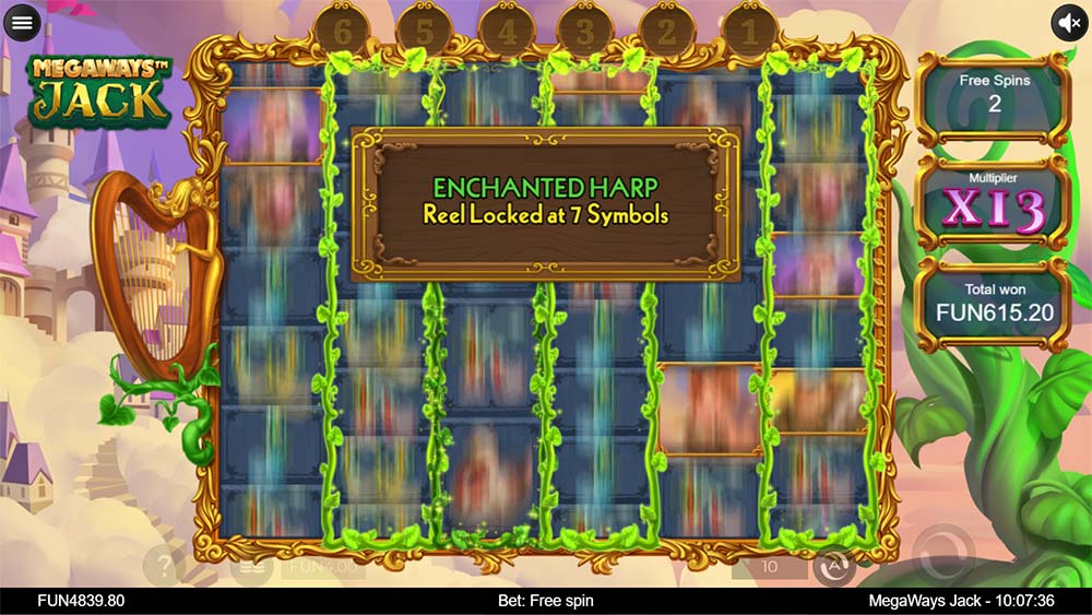 Megaways Jack Slot - Enchanted Harp Feature