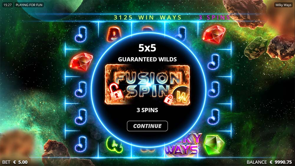 Milky Ways Slot - Free Spins