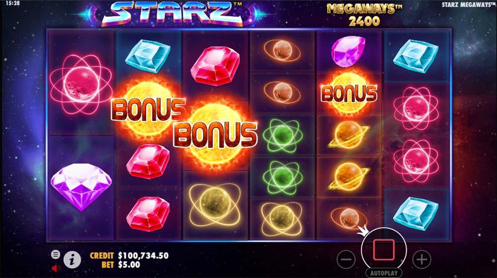 Starz Megaways Slot - Bonus Trigger