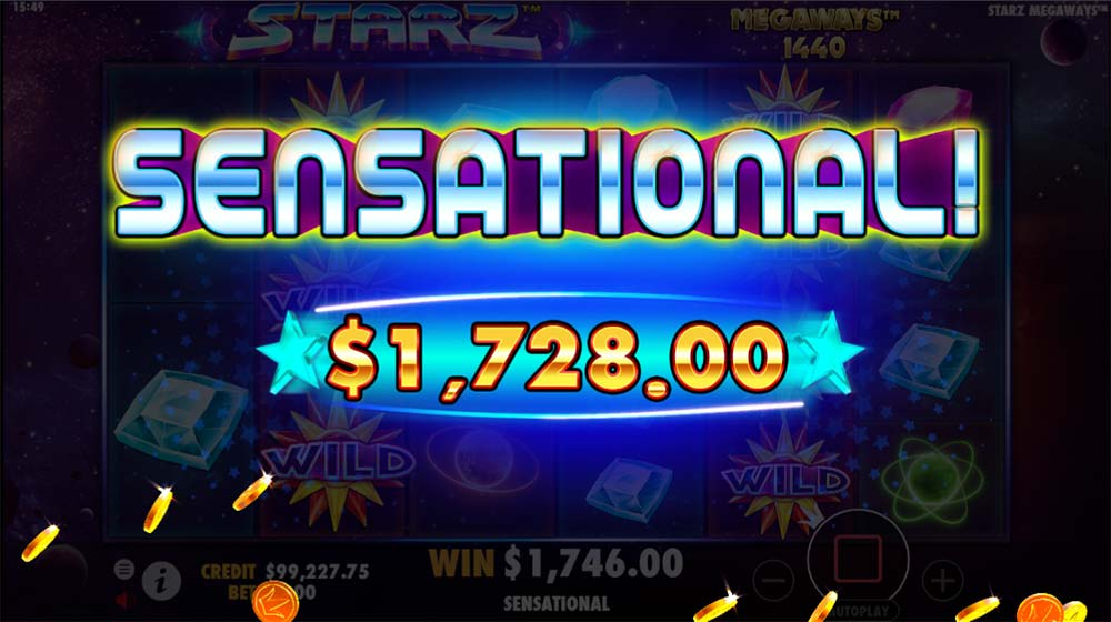 Starz Megaways Slot - Sensational Win