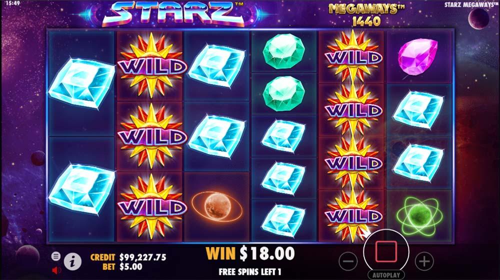 Starz Megaways Slot - Sticky Wild Reels