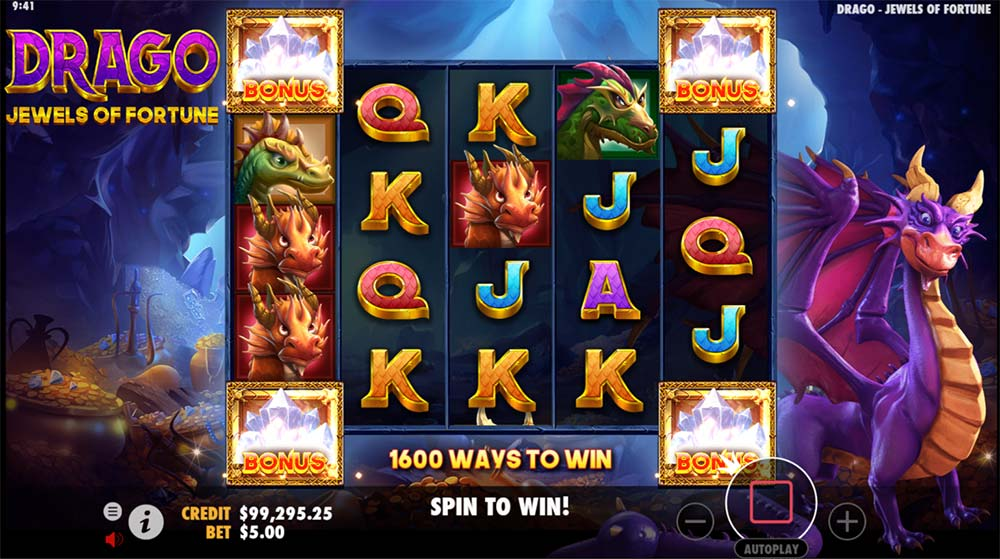 Drago Jewels of Fortune Slot - Main Bonus Trigger