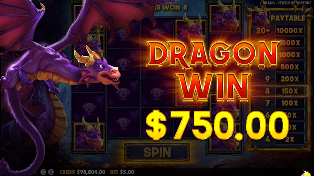 Drago Jewels of Fortune Slot - Dragon Win