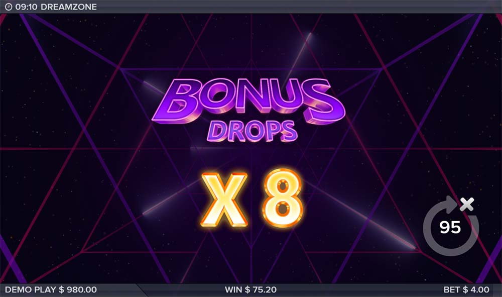 Dreamzone Slot - 8x Multiplier level reached