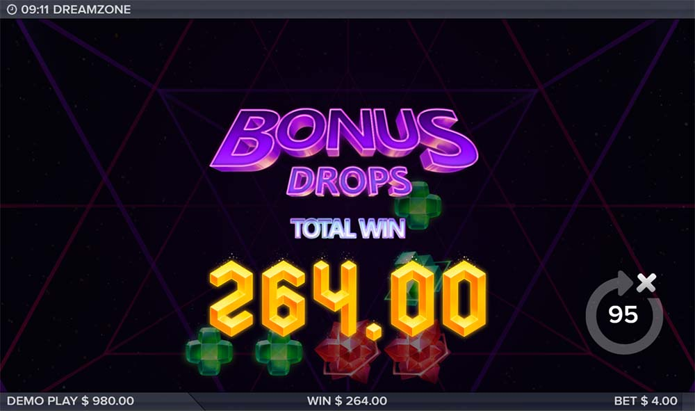 Dreamzone Slot - Bonus End
