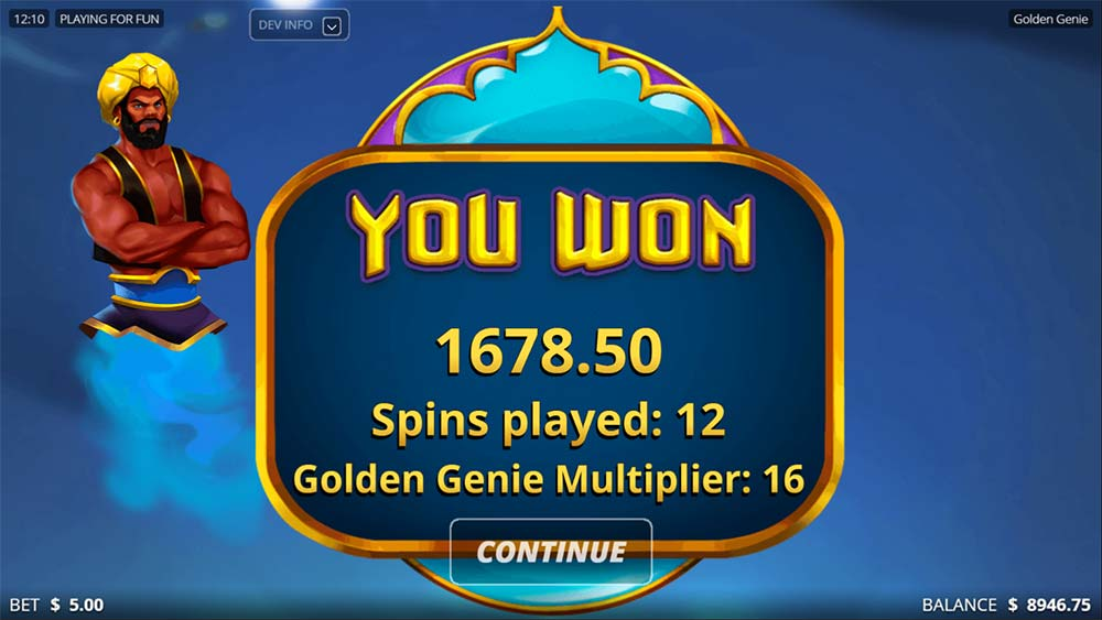Golden Genie Slot - Bonus End