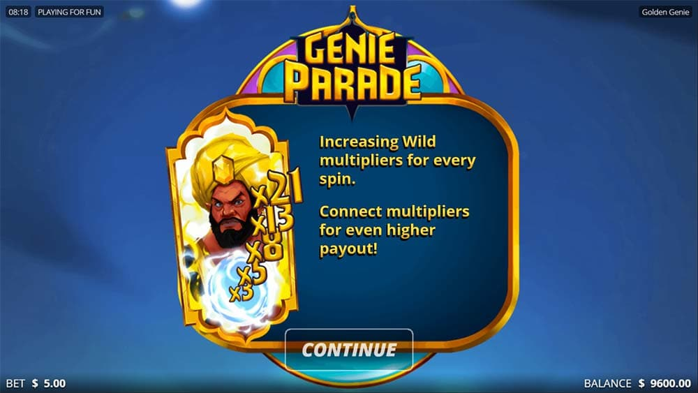 Golden Genie Slot - Bonus Round Start