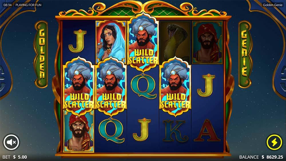 Golden Genie Slot - Bonus Trigger